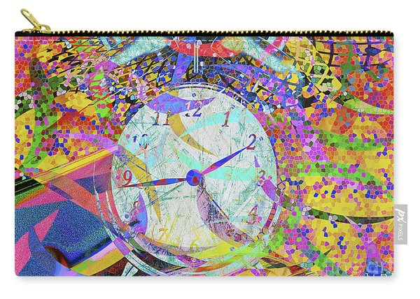 Carry-all Pouch featuring the digital art Tic Tac by Eleni Mac Synodinos