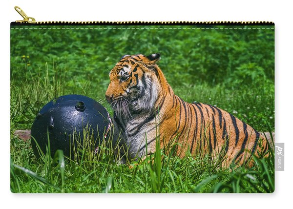 Tiger Playing With Ball Carry-all Pouch