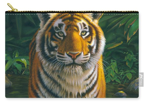 Tiger Pool Carry-all Pouch