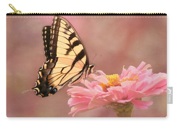 Tiger Swallowtail In The Pink Carry-all Pouch