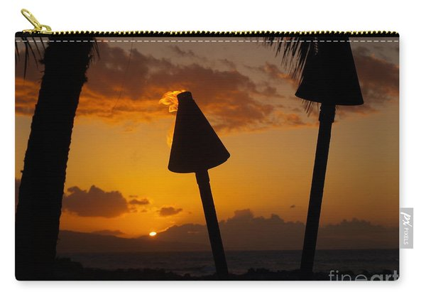 Tiki Time In Maui Carry-all Pouch