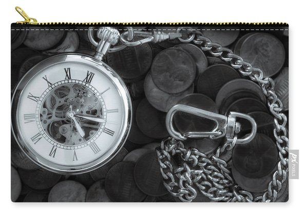 Time And Money Carry-all Pouch