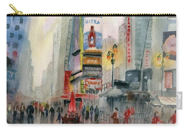 Time Square New York Carry-all Pouch
