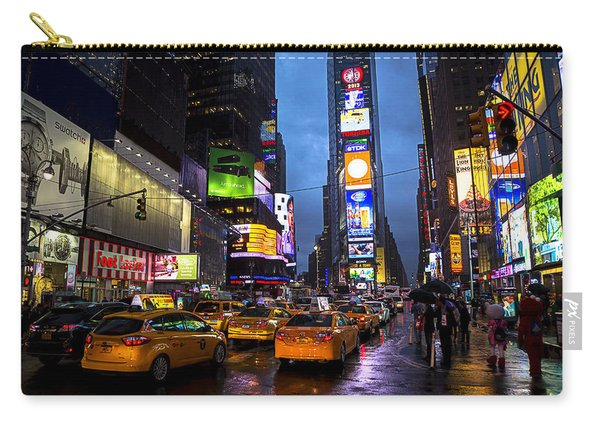 Times Square In The Rain Carry-all Pouch