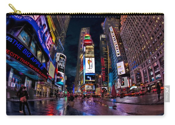 Times Square New York City The City That Never Sleeps Carry-all Pouch