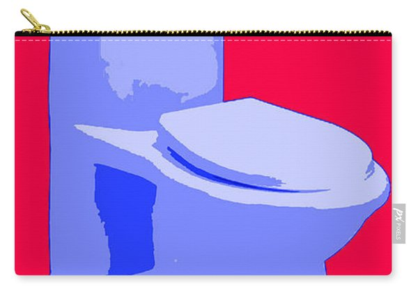 Toilette In Blue Carry-all Pouch