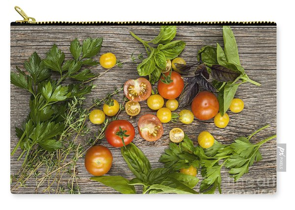 Tomatoes And Herbs Carry-all Pouch