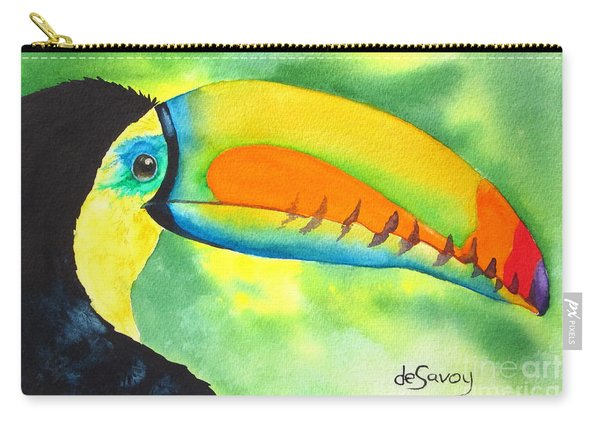 Carry-all Pouch featuring the painting Tookey  by Diane DeSavoy