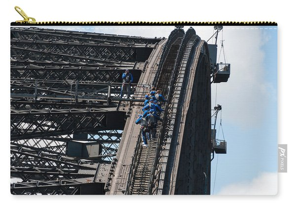 Tourists Strapped Together For Climb Carry-all Pouch