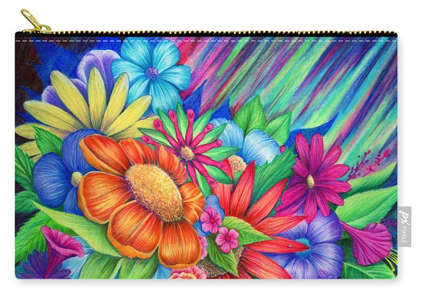 Carry-all Pouch featuring the painting Toward The Light by Nancy Cupp