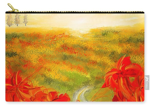 Towards The Brightness - Fields Of Poppies Painting Carry-all Pouch