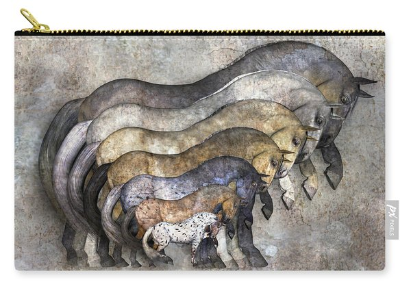 Traditional Horses Carry-all Pouch