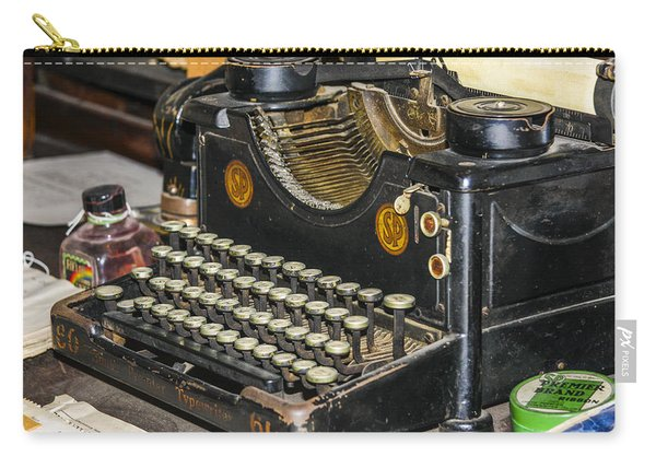 Carry-all Pouch featuring the photograph Traditional Typewriter by Susan Leonard