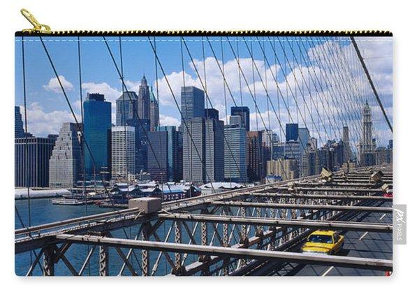 Traffic On A Bridge, Brooklyn Bridge Carry-all Pouch