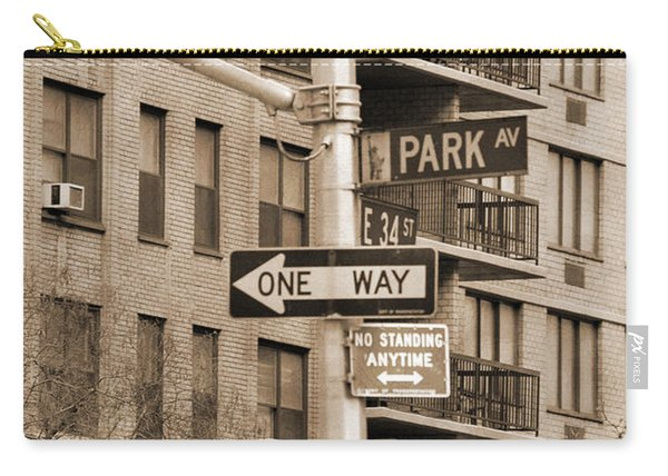 Traffic Signs In Manhattan Vintage Look Carry-all Pouch