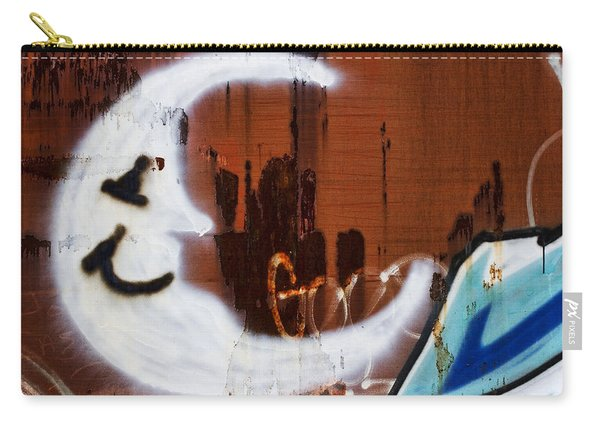 Train Art Man In The Moon Carry-all Pouch