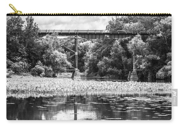 Carry-all Pouch featuring the photograph Train Bridge by Garvin Hunter