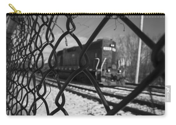 Train Through The Chain Link Fence Carry-all Pouch