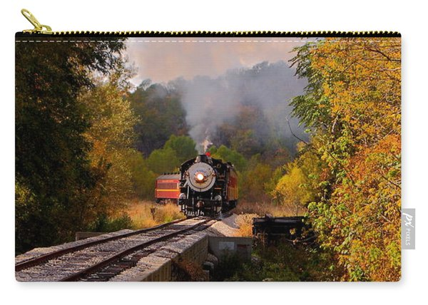 Train Through The Valley Carry-all Pouch