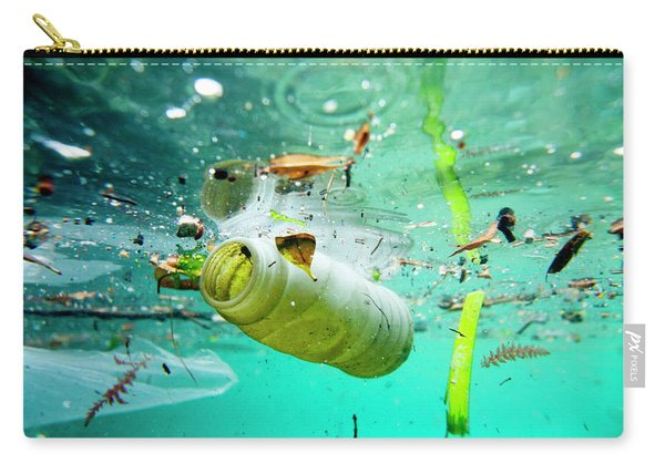 Trash Floating On The Marseille Shore Carry-all Pouch