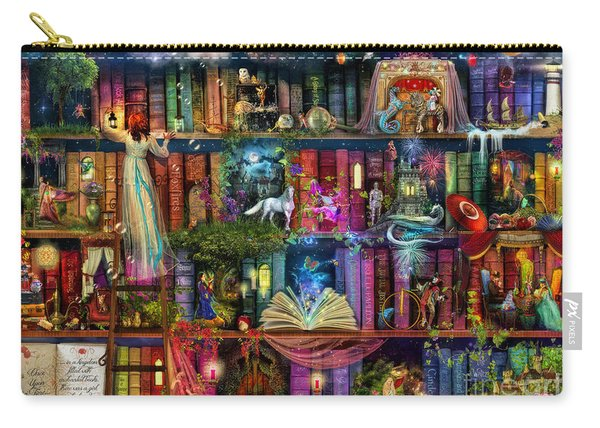 Fairytale Treasure Hunt Book Shelf Carry-all Pouch
