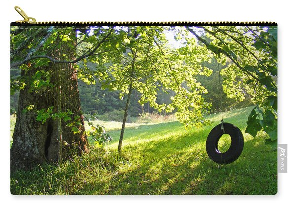Tree And Tire Swing In Summer Carry-all Pouch