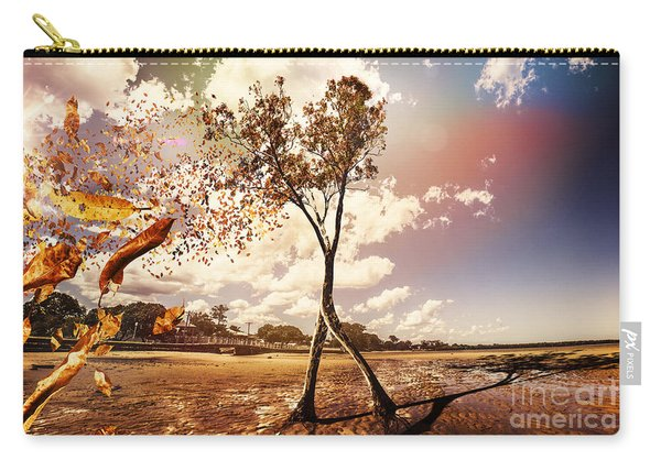 Tree Leaves On A Sea Change Carry-all Pouch