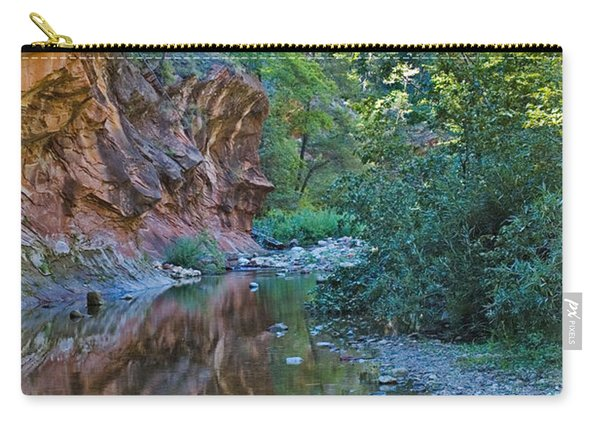 Carry-all Pouch featuring the photograph Tree Reflection by Mae Wertz