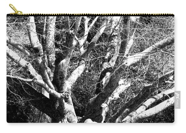 Tree Study In Black N White Carry-all Pouch