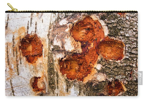 Tree Trunk Closeup - Wooden Structure Carry-all Pouch