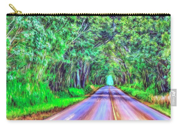Tree Tunnel Kauai Carry-all Pouch