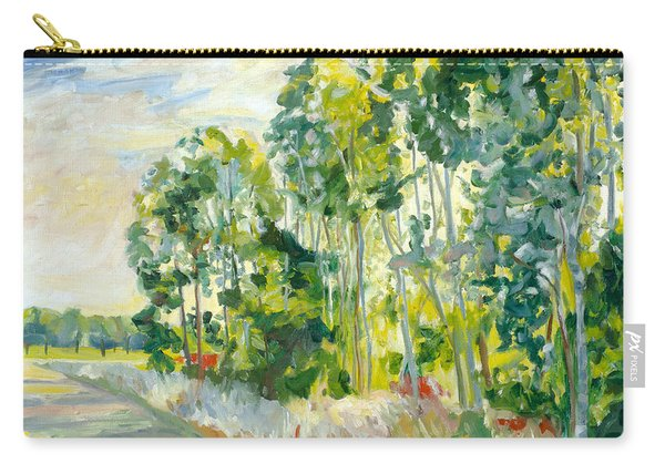 Trees By A Road Carry-all Pouch