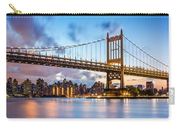 Triboro Bridge At Dusk Carry-all Pouch