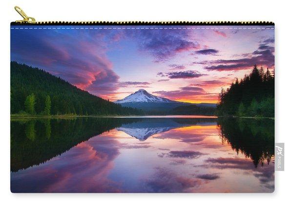 Trillium Lake Sunrise Carry-all Pouch