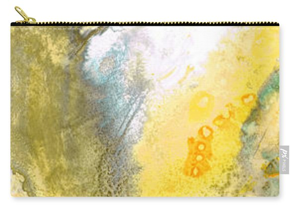 Triumph - Yellow Abstract Art By Sharon Cummings Carry-all Pouch