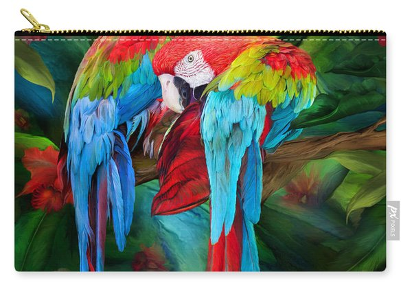 Tropic Spirits - Macaws Carry-all Pouch