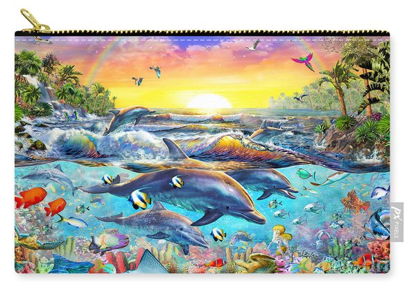 Tropical Cove Carry-all Pouch