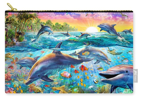 Tropical Dolphins Carry-all Pouch