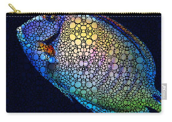Tropical Fish Art 6 - Painting By Sharon Cummings Carry-all Pouch
