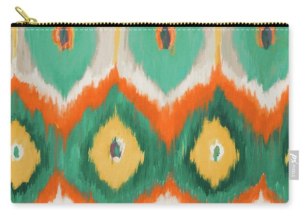 Tropical Ikat II Carry-all Pouch