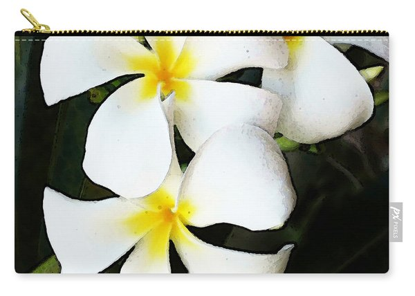 Tropical Life - Flower Painting Carry-all Pouch