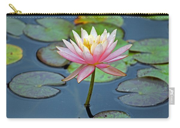 Tropical Pink Lily Carry-all Pouch