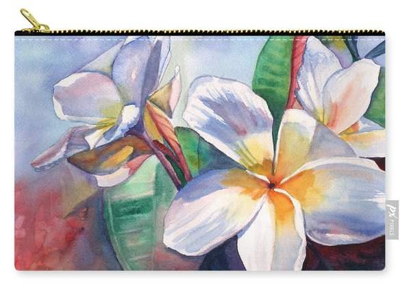 Tropical Plumeria Flowers Carry-all Pouch