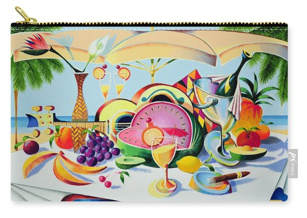 Tropical Still Life For A Cuban Cubist Carry-all Pouch