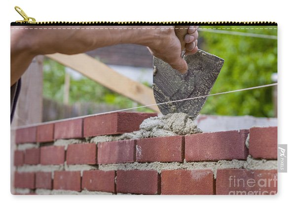 Trowel Spreading Cement On Bricks Carry-all Pouch