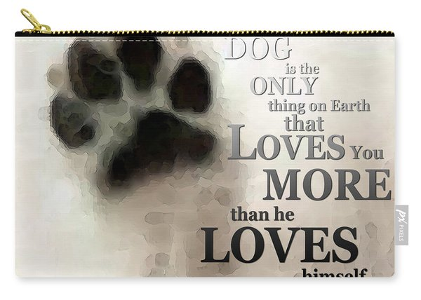 True Love - By Sharon Cummings Words By Billings Carry-all Pouch