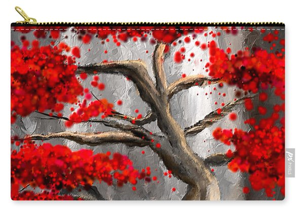 True Love Waits - Red And Gray Art Carry-all Pouch