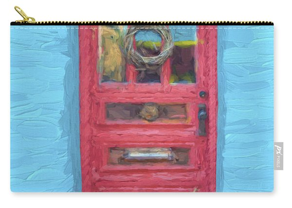 Tucson Barrio Red Door Painterly Effect Carry-all Pouch