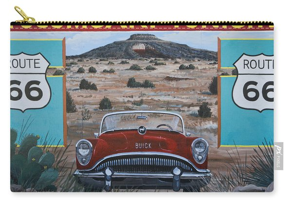 Tucumcari Tonight Mural On Route 66 Carry-all Pouch