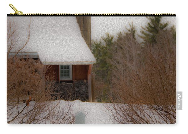 Tuftonboro Farm In Snow Carry-all Pouch